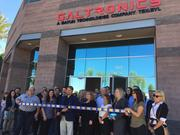 Galtronics' CEO Randy Dewey participates in a ribbon cutting at the new Tempe office March 9, 2017 with employees and Tempe city employees and leaders.