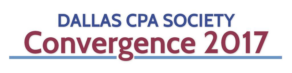 Dallas CPA Society Convergence 2017