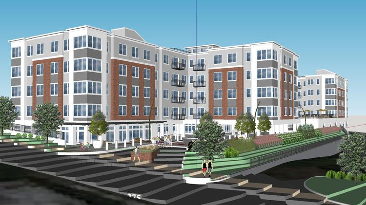 A rendering of the exterior of 10 Union, a proposed project in Bala Cynwyd, Pa.