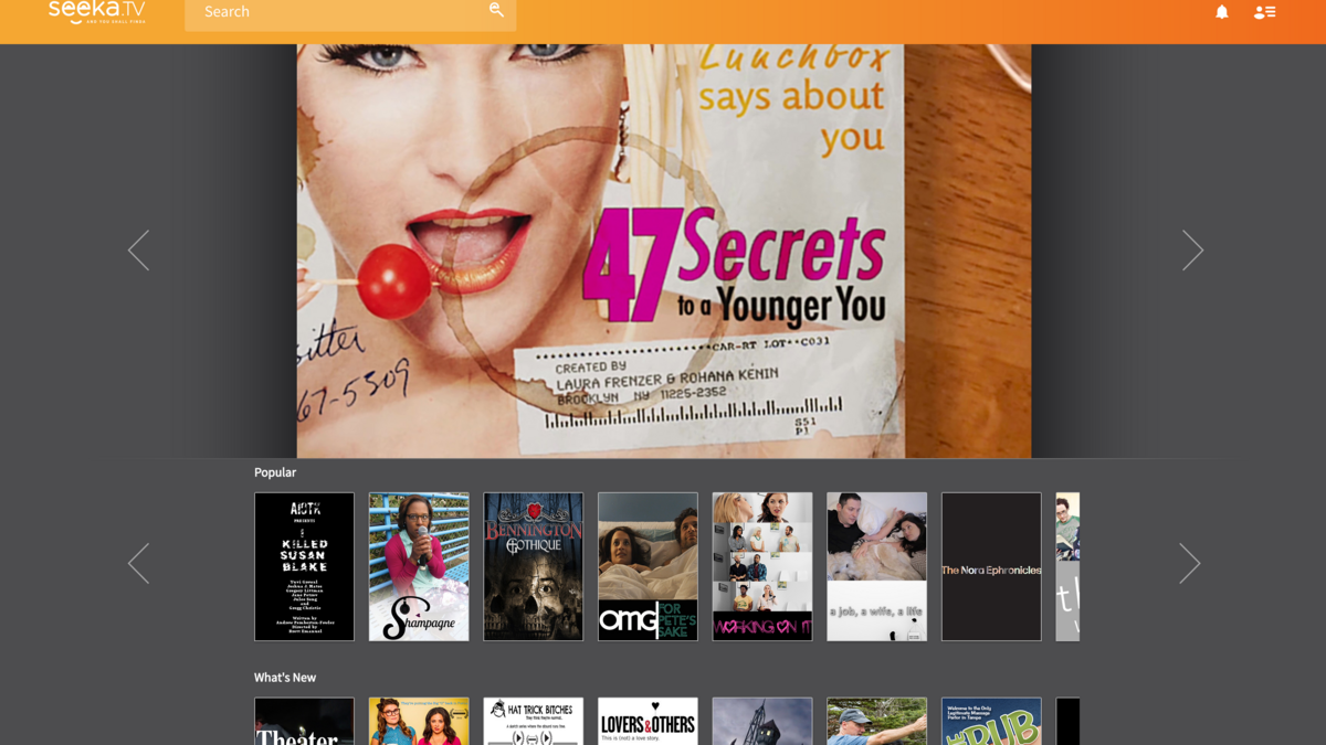 Video-streaming startup Seeka TV gives online indie series a
