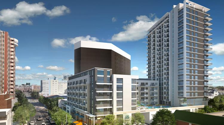 The 20-story tower along McKinney Avenue will bring 261 apartments to the Uptown submarket.