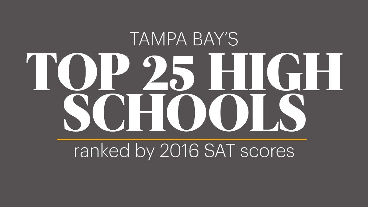 Tampa Bay area high schools ranked by SAT scores - Tampa Bay Business  Journal