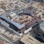 See latest progress on Milwaukee Bucks' new arena from the air