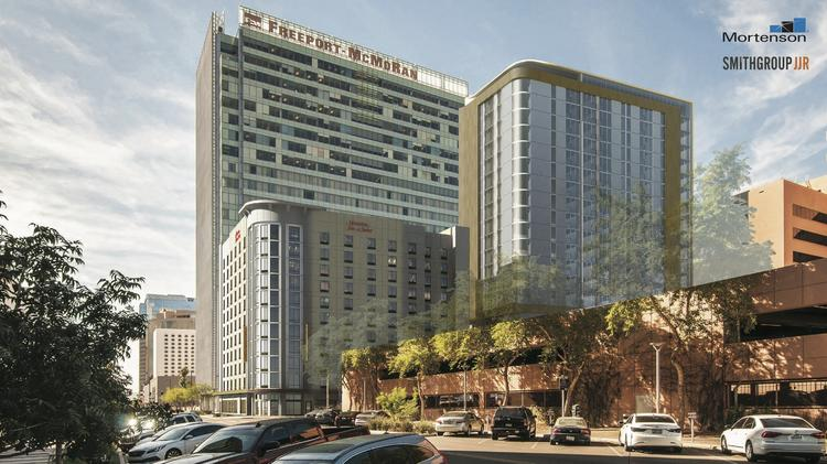 High-rise apartments planned to open next to new downtown Phoenix ...