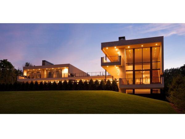 Landmark contemporary estate with lake views!