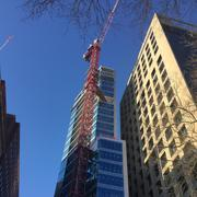 Construction of 500 Walnut St. in Philadelphia is well underway. The topping out is scheduled for March 23.