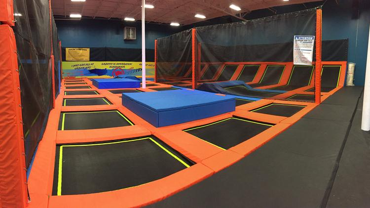 This is a trampoline area in the Sugar Land, Texas Urban Air Trampoline & Adventure Park. The Cincinnati location will have similar attractions.