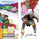 John Hancock, city of Boston unveil illustrated marathon street banners