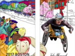 John Hancock, city of Boston unveil illustrated marathon street banners