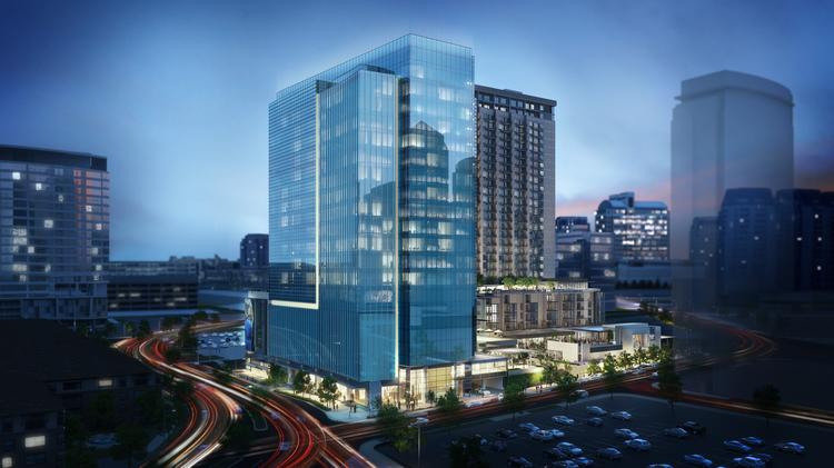 The Union Dallas is a mixed-use development under construction in the city's urban core.