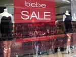 Bebe plans to close all stores by the end of next month