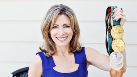 7-time Olympic medalist Shannon Miller addresses Jaxport's conference