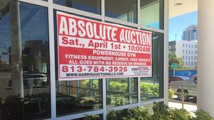 The collateral Powerhouse Gym left at its downtown Tampa location will be auctioned off on April 1.