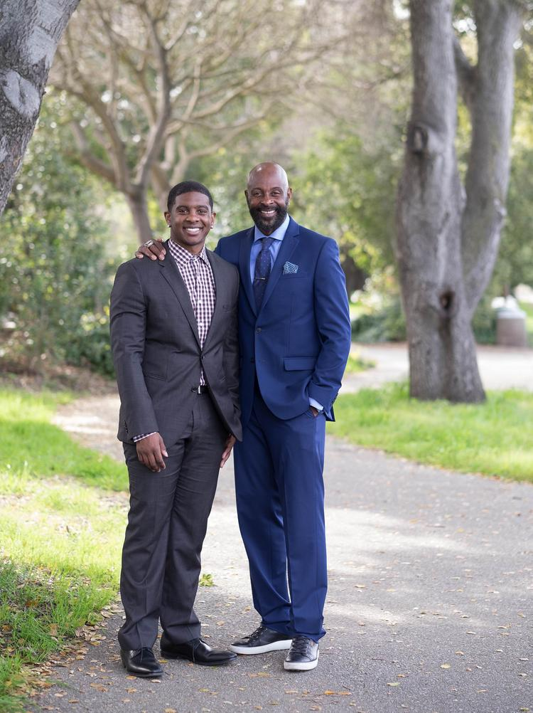 Foto van Jerry Rice  & zijn Zoon  Jerry Rice Jr.