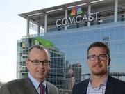 Bill Connors of Comcast, left, and Toby Krout of Boomtown.