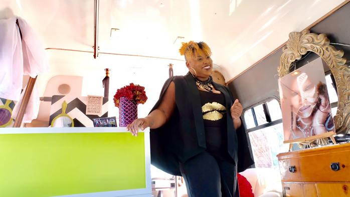 Beauty and the bus: An entrepreneur takes her studio on the road
