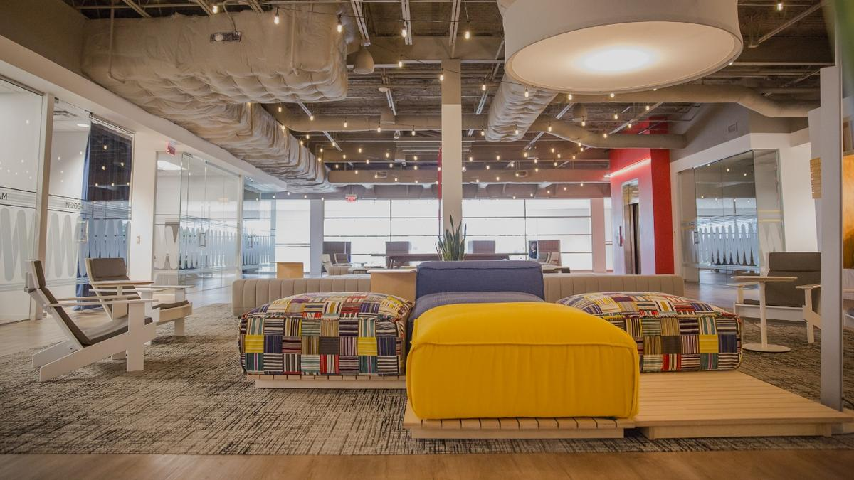 Mattress Firm s new Houston HQ includes nap rooms murals
