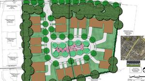 Sharon Lane townhome project rejected in split vote