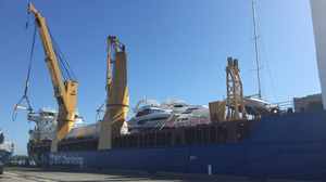 Two large LNG tanks arrive at Jaxport, making the port the first to provide LNG service to shippers