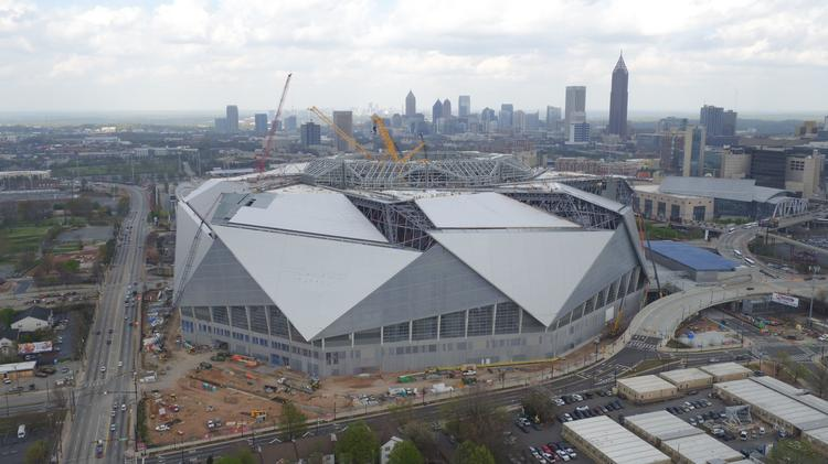 Opening of mercedes benz stadium delayed again to late for Mercedes benz stadium calendar