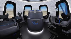 Jeff Bezos shows off Blue Origin's crew space capsule