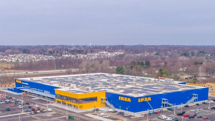 ikea columbus wraps solar array on store 39 s roof columbus columbus business first. Black Bedroom Furniture Sets. Home Design Ideas