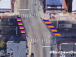 First 'Awesome' project: rainbow crosswalks on Allen Street