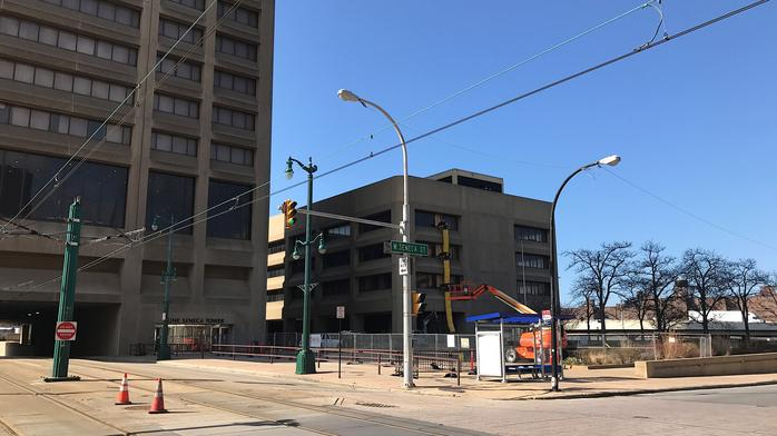Signs of life: Construction crews working on Seneca One Tower