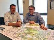 Jay Wozniak, landscape architect with the Trust for Public Land, left, and TPL Georgia director George Dusenbury.