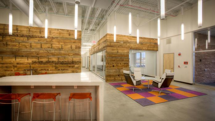 Coolest office spaces: Walk along 'Main Street' at United Bags' Creve Coeur workspace