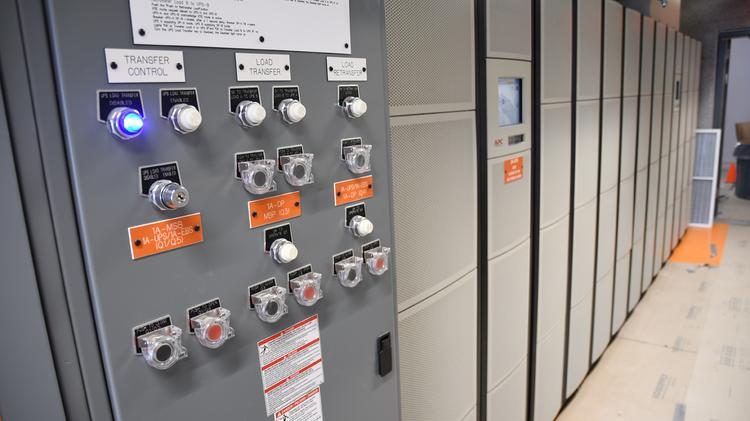 The electrical systems at TierPoint's soon-to-open data center in Allen are getting ready for the green light.