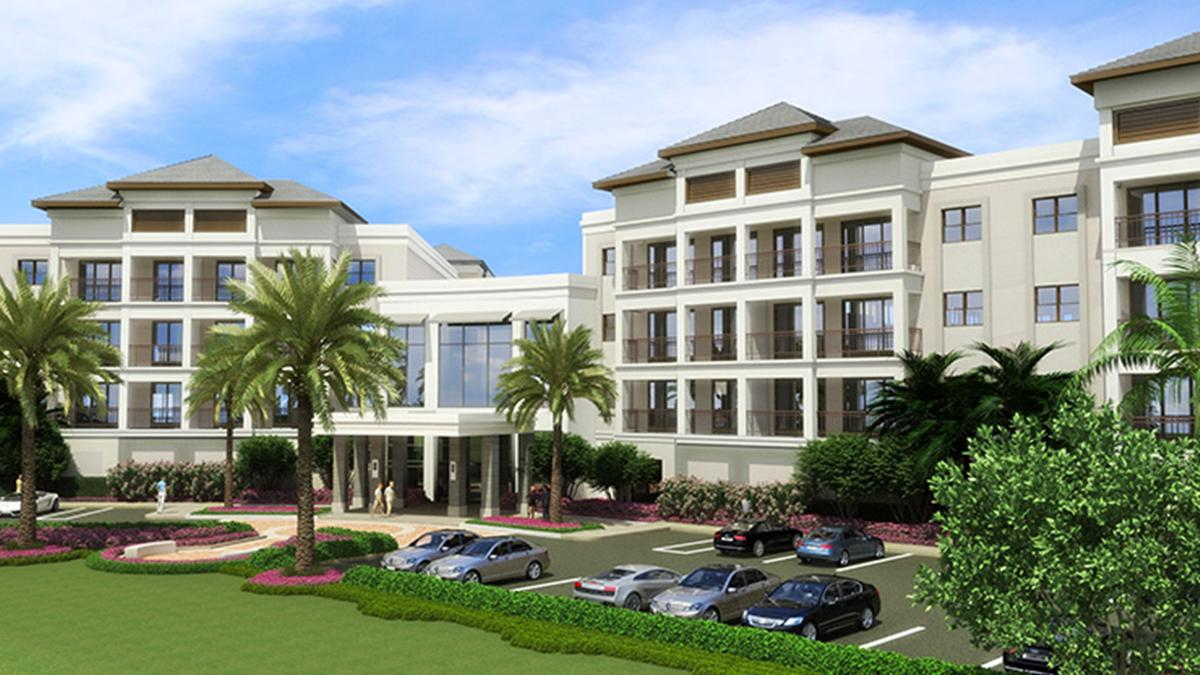 Schottenstein real estate group breaks ground on central gardens grand apartments in palm beach for Storage units palm beach gardens