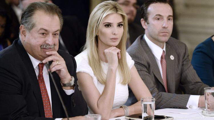 Reed Cordish, far right, sits with Ivanka Trump in a recent White House meeting.