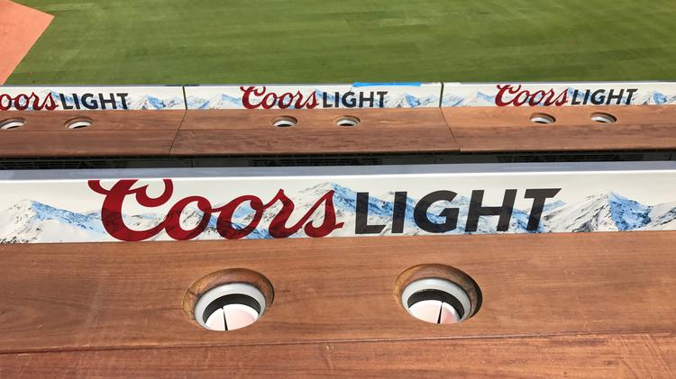 MillerCoors installs drink rails at Coors Light Chop House