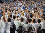 Fan frenzy: North Carolina Tarheels get some extra cheer from ASU students in the stands
