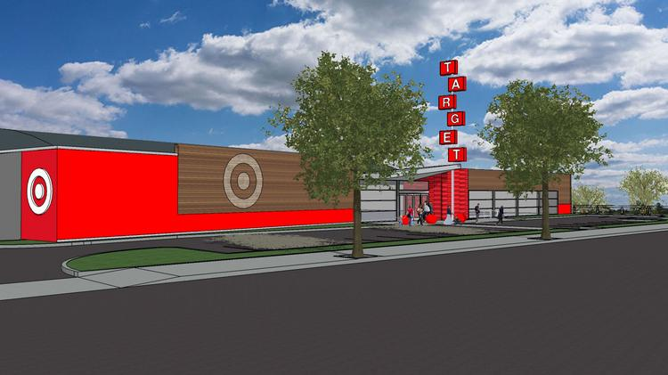 A rendering shows what the Target will look like at Southeast 30th Avenue and Southeast Powell Boulevard. It will be in the building currently occupied by AMF Pro 300 Lanes.