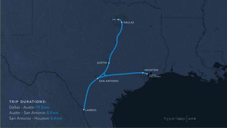 Hyperloop tube travel proponents push Texas Triangle for initial