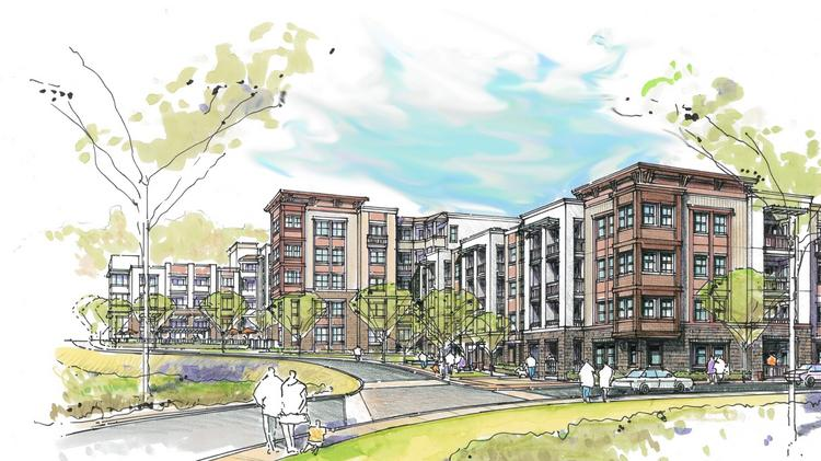 A Rendering Of The Concept Proposed For St. Johns Wood Apartments In Reston.