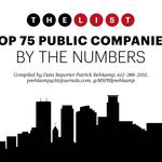 Top 75 Public Companies, By The Numbers