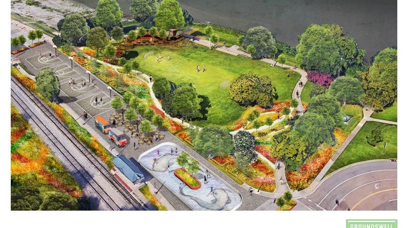 riverplay  u2014 a temporary public space and recreation area with an outdoor roller rink  u2014 will make
