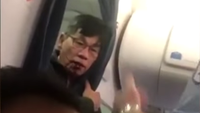David Dao After Returning To The United Airlines Plane From Which He Was Removed