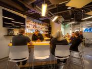 Phoenix Investors has a fully-stocked bar in its downtown Milwaukee office.