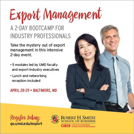 Export Management Bootcamp for Industry Professionals