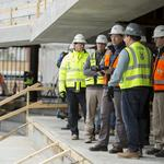 Bucks arena nearly 50% done as Gov. Walker tours site: Slideshow