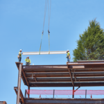 Final beam placed for new 9-story SAS building