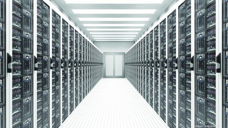 A row of servers in a data center. Garland plans to add a new $1 billion data center campus with the help of Digital Realty.