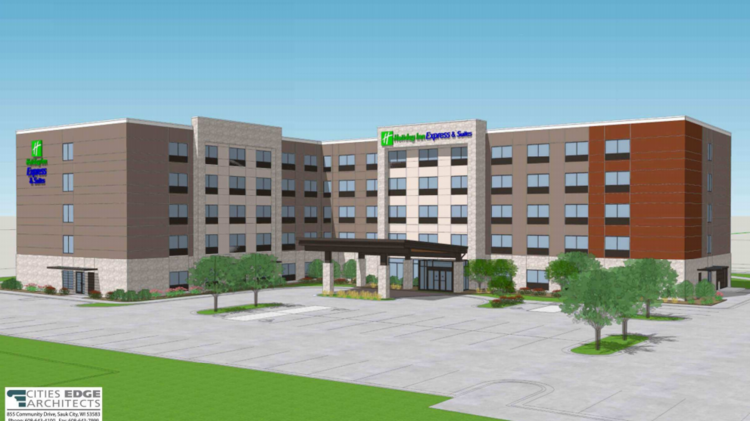 A Rendering Of The Holiday Inn Express That Hawkeye Hotels Is Planning In Bloomington