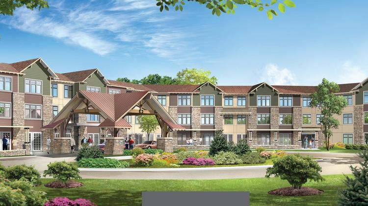A Rendering Of The Lakes Of Stillwater, A Senior Housing Complex That Will  Cost $70