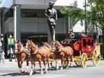 Why Wells Fargo rolled its stagecoach into uptown Monday (PHOTOS)