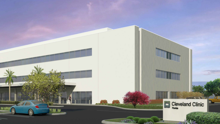 the 72000 square foot cleveland clinic florida facility is under construction at 5701 n